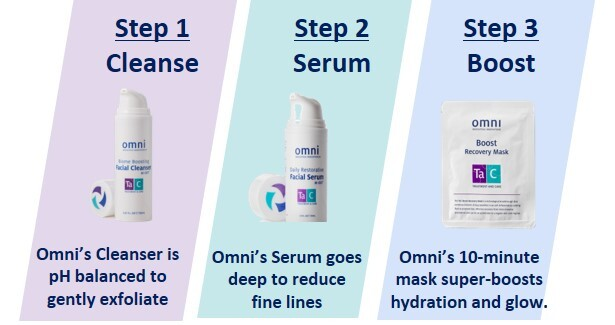 3 STEP, cleanser, facial, boost