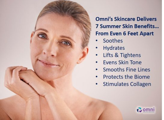 women with hands together, blonde, soothes, hydrates, lifts & tightens, evns skin tone, smooth fine lines, protects the Biome, stimulates collagen