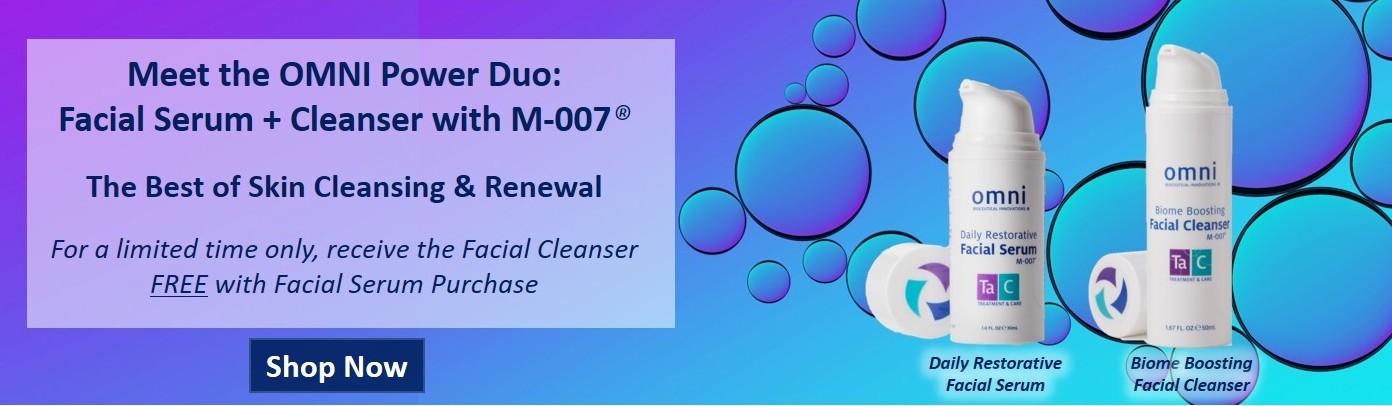 facial serum, facial cleanser, m-007, skincare, skin care, biome, cleansing